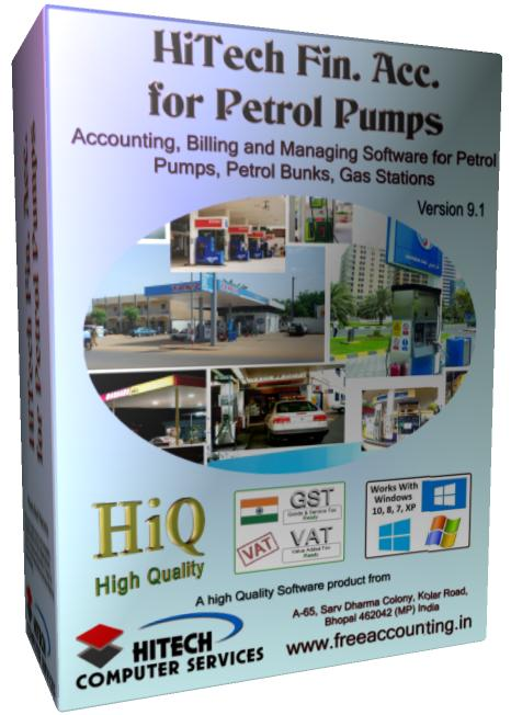 Business Management and Accounting Software for Petrol Pumps. Modules : Pumps, Parties, Inventory, Transactions, Payroll, Accounts & Utilities. Free Trial Download.